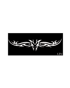 Pochoir tattoo temporaire tribal bas du dos