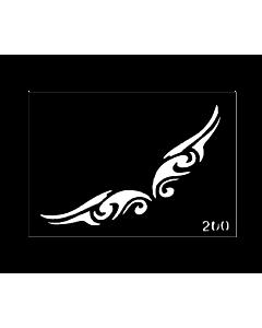 tribal wings tattoo stencil
