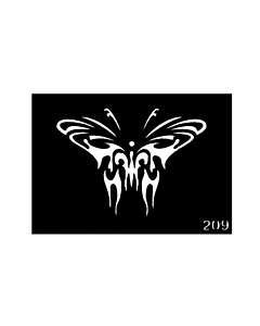 Butterfly temporary tattoo stencil