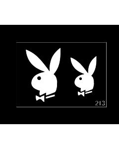 Playboy stencil temporary tattoo