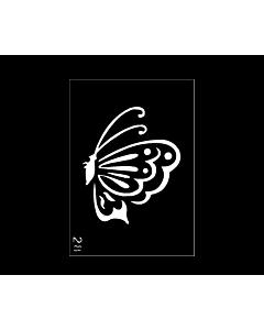 pochoir tattoo papillon