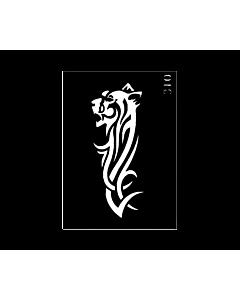 Pochoir tattoo Lion