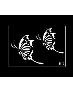 pochoir tattoo papillons