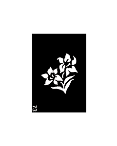 pochoir tattoo fleurs