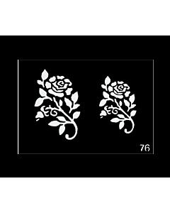 pochoir tattoo roses