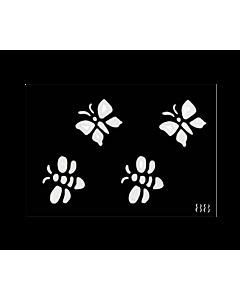 pochoir papillon tatouage