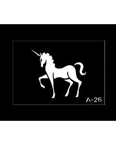 Pochoir tatouage Cheval licorne