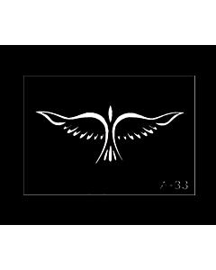 Pochoir tatouage phoenix