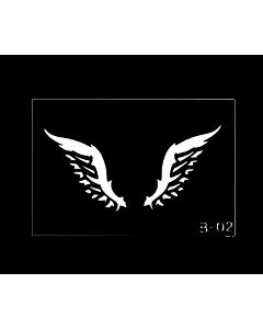 pochoir tatouage ailes