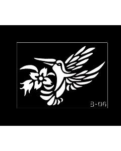 pochoir tatouage colibri