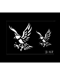 pochoir tatouage aigles