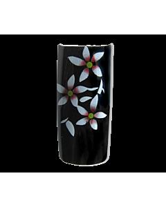 Protheses Fleurs Blanc/Rouge sur Noir