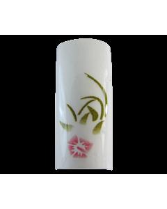 Capsules Fleur Blanche/Rose sur Blanc