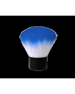 Pinceau Époussette Court Bleu et Blanc