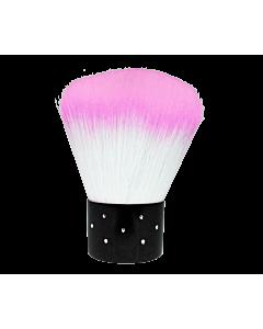 Short Dust Brush Pale Pink / White Diamond