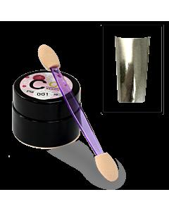 Poudre effet Métallisée Miroir Chromé 001