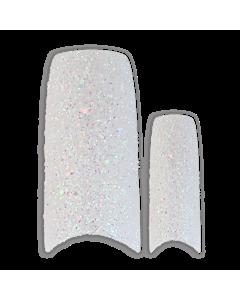 Prothèse Française Glitter Blanche (100 pcs) - de dessus