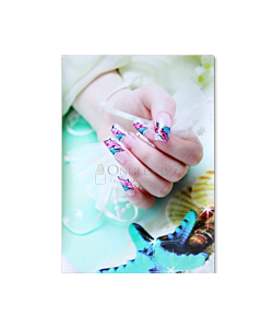 Poster Ongles Fantaisie Coquillages et Rubans 60 x 90 cm