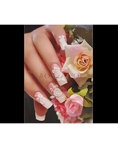 Poster ongles Fantaisie Fleurs Pêche et Rose