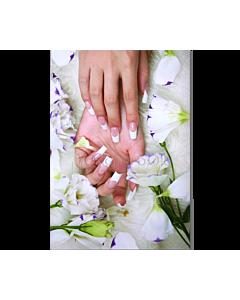Poster Ongle french manucure Fleurs et Fourrur