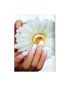 Poster french manucure Pierres Perles Fleur