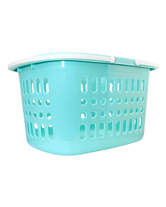 Turquoise stackable retail basket