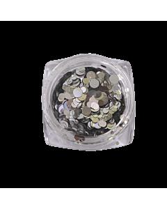 Nail Art Glitter Circles - Silver