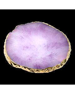 Nail Art Round Resin Stone Plate - Purple
