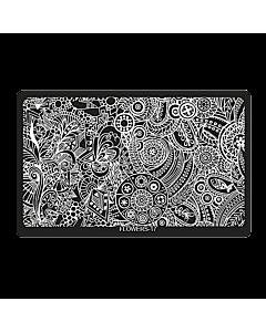 Plaque de Stamping Rectangulaire Flowers-17 (6,5'' x 4'')