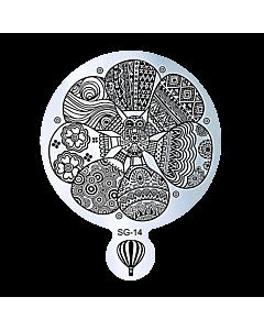 Plaque de Stamping Ronde SG-14 de 9 cm de diamètre