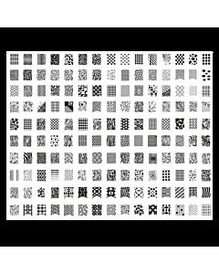 Plaque de Stamping XXL modèle 4 (31.6 x 26.6 cm)