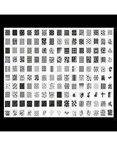 Plaque de Stamping XXL modèle 5 (31.6 x 26.6 cm)