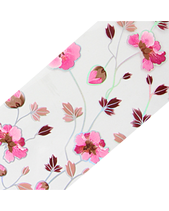 Decorative Transfer Paper Flowers Pink/Brown/Silver AB 002