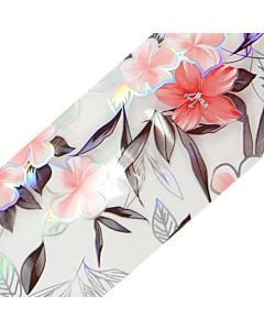 Decorative Transfer Paper Flowers Pink/Grey/Silver AB 003