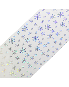 Decorative Transfer Paper Silver Snowflakes AB 008