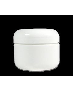 Pot Vide en Plastique Blanc avec Couvercle 1 oz