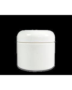 Pot Vide en Plastique Blanc avec Couvercle 2 oz