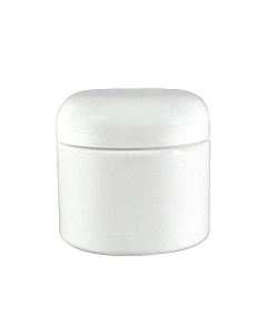 Pot Vide en Plastique Blanc avec Couvercle 4 oz