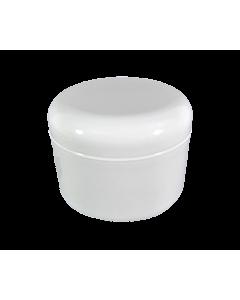 Pot Vide en Plastique Blanc avec Couvercle 8 oz