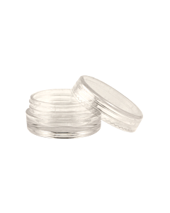 Empty Clear Plastic Jar with Lid - 2g