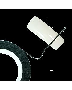 Ruban Décoratif Autoadhésif Glitter Noir 0.7mm