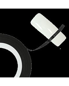 Ruban noir 2mm pour décoration