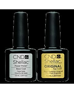 Shellac vernis UV combo Top et Base 7.3 ml