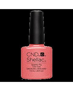 Shellac gel nail Polish Sparks Fly pink