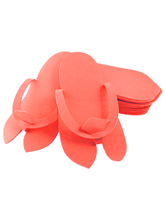Disposable Foam Slippers - Coral Color