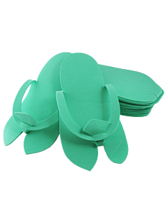Disposable Foam Slippers - Green Color