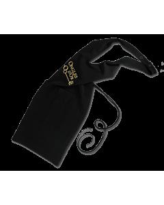tablier esthétique noir ongles d'Or