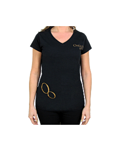 T-shirt noir Ongles d'Or M