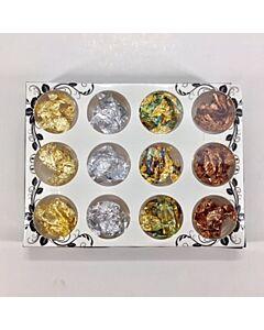 Valerie Ducharme Foil Flakes Gold, Silver & Copper - 12 pcs