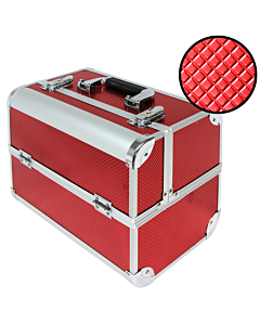 Suitcase embossed red color (Medium:32x21x27cm)